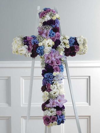 Jewel Toned Cross of Roses and More